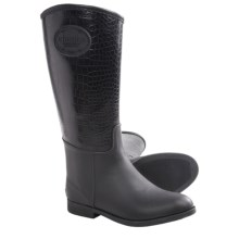 Chooka Croco-Embossed Rain Boots - Waterproof, Rubber (For Women) in Black - Closeouts