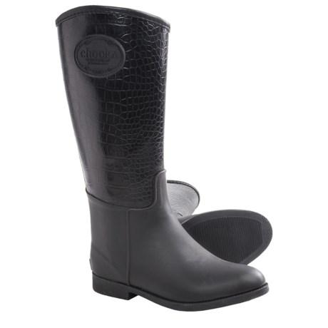 Chooka Croco-Embossed Rain Boots - Waterproof, Rubber (For Women) in Black