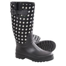 Chooka Dotty Rain Boots - Waterproof Rubber (For Women) in Black - Closeouts