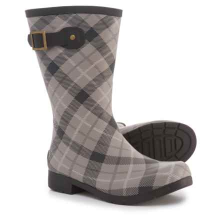 Chooka Eastlake Plaid Mid Rain Boots - Waterproof (For Women) in Pebble Plaid - Closeouts