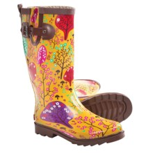 Chooka Forest Blossom Rain Boots - Waterproof Rubber (For Women) in Yellow - Closeouts