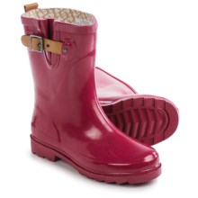 Chooka Top Solid Mid Rain Boots - Waterproof (For Women) in Garnet - Closeouts