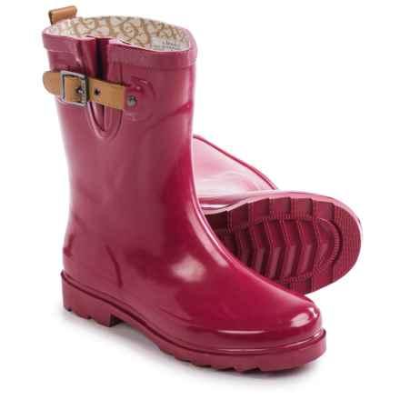 Chooka Top Solid Mid Rain Boots - Waterproof (For Women) in Garnet - Closeouts