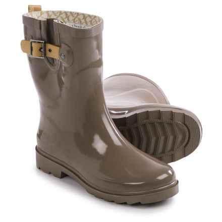 Chooka Top Solid Mid Rain Boots - Waterproof (For Women) in Taupe - Closeouts