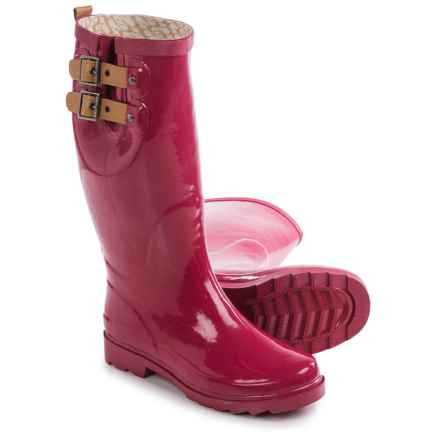 Chooka Top Solid Rain Boots - Waterproof (For Women) in Garnet - Closeouts
