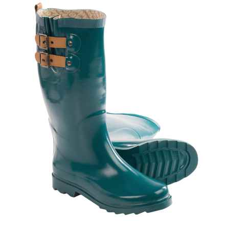 Chooka Top Solid Rain Boots - Waterproof (For Women) in Teal - Closeouts