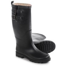 Chooka Top Solid Satin Rain Boots - Waterproof (For Women) in Black - Closeouts