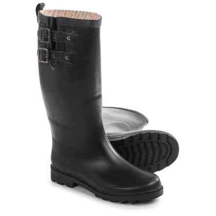 Chooka Top Solid Satin Rain Boots - Waterproof (For Women) in Black - Closeouts