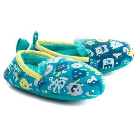 CHOOZE Faux-Fur Slippers (For Girls) in Boo - Closeouts