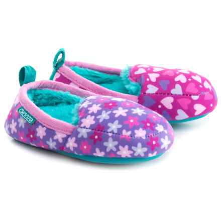 CHOOZE Faux-Fur Slippers (For Girls) in Pretend - Closeouts