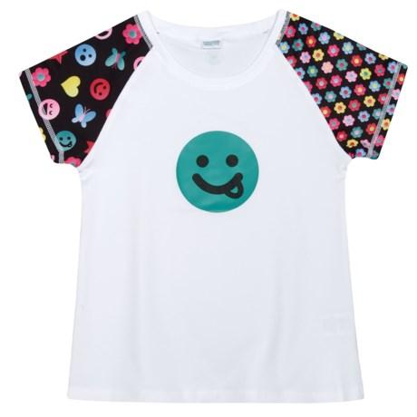 CHOOZE Smartee T-Shirt - Short Sleeve (For Girls) in Grin