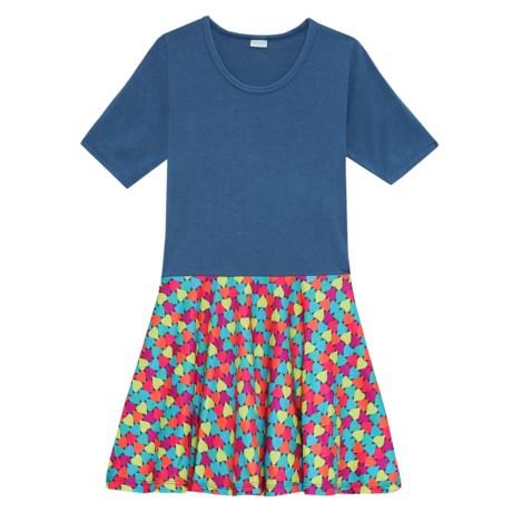 CHOOZE Spree Dress - Short Sleeve (For Girls) in Heartbreaker