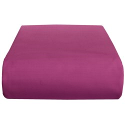 Chortex 200 TC Cotton Percale Solid Flat Sheet - Queen in Lilac