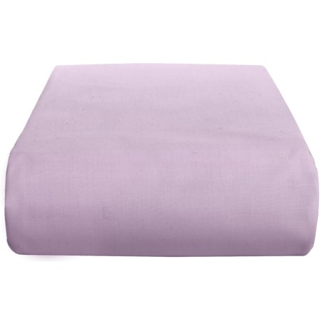 Chortex 200 TC Cotton Percale Solid Flat Sheet - Twin in Magenta