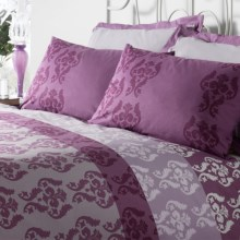 Chortex Anna Damask Duvet Set - 200 TC Cotton Percale, Euro Sham, Twin in Anna - Closeouts