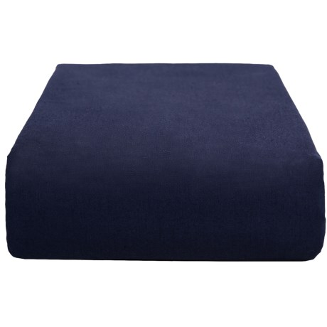 Chortex Cotton Percale Solid Flat Sheet - 200 TC, King in Navy