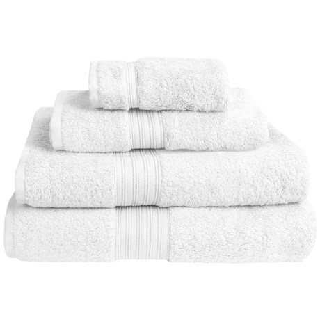 Chortex Indulgence by Victoria House Bath Towel - Turkish Cotton in White