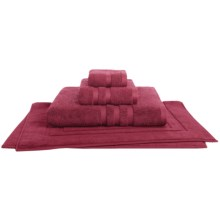 Chortex Irvington Bath Mat - Combed Cotton in Burgundy - Closeouts