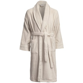 Chortex Micro-Cotton Robe - Long Sleeve (For Men and Women) in Linen