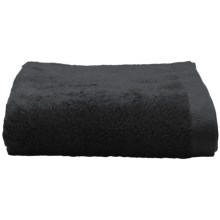 Chortex Self Ridges Bath Towel - Zero-Twist Cotton, 600gsm in Black - Closeouts
