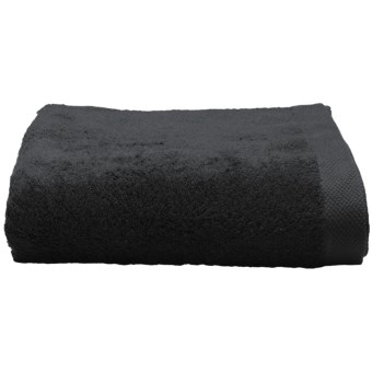 Chortex Self Ridges Bath Towel - Zero-Twist Cotton, 600gsm in Black
