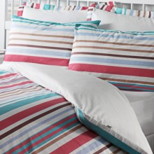 Chortex Urban Stripe Duvet Set - 200 TC Cotton Percale, Euro Sham, Twin in Urban Stripe - Closeouts