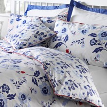 Chortex Vintage Floral Duvet Cover Set - 200 TC Cotton Percale, Euro Sham, Twin in Vintage - Closeouts