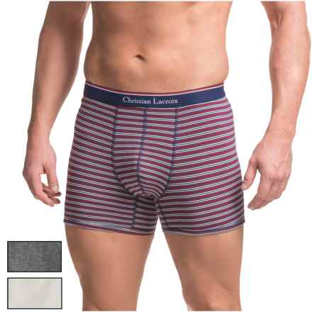 Christian Lacroix Boxer Briefs - 3-Pack (For Men) in Charcoal/White/Red Double Stripe - Closeouts