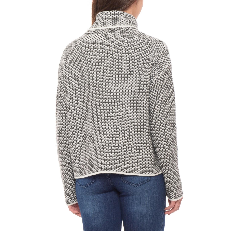c7b3debe82949 Christian Siriano Textured Stitch Turtleneck Sweater (For Women ...