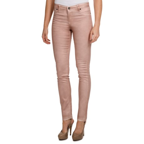 Christopher Blue Ava Stretch Jegging Pants - Metallic Finish (For Women) in Silver