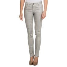 Christopher Blue Ava Stretch Jegging Pants - Metallic Finish (For Women) in Silver - Closeouts