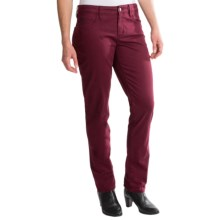 Christopher Blue Diane Carmel Twill Boyfriend Pants (For Women) in Mahogany - Closeouts