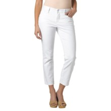 Christopher Blue Joan Long Skinny Crop Pants - Stretch Cotton (For Women) in White - Closeouts