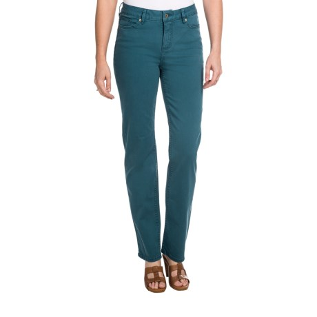 Christopher Blue Madison Gab 72 Pants - Stretch Twill, Straight Leg (For Women) in Evening Forest