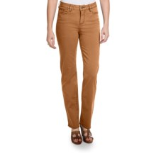 Christopher Blue Madison Gab 72 Pants - Stretch Twill, Straight Leg (For Women) in Saddle Brown - Closeouts