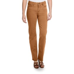 Christopher Blue Madison Gab 72 Pants - Stretch Twill, Straight Leg (For Women) in Saddle Brown