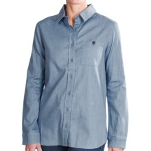 Christopher Blue Nellie Chambray Shirt - Long Sleeve (For Women) in Light Indigo - Closeouts