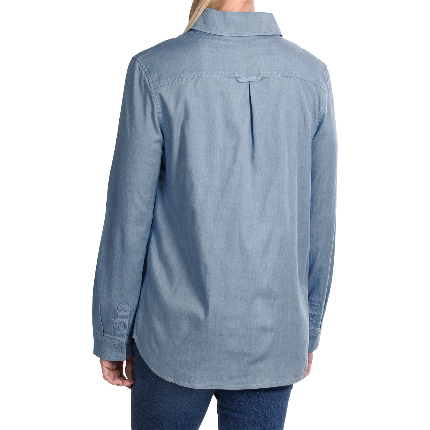 Christopher blue nellie chambray shirt for women 7858w for Chambray shirt women