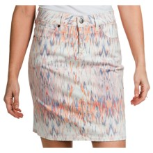 Christopher Blue Nolina Skirt (For Women) in White Ikat - Closeouts
