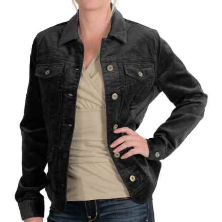 Christopher Blue Smith Corduroy Jacket - Button Front (For Women) in Black - Closeouts
