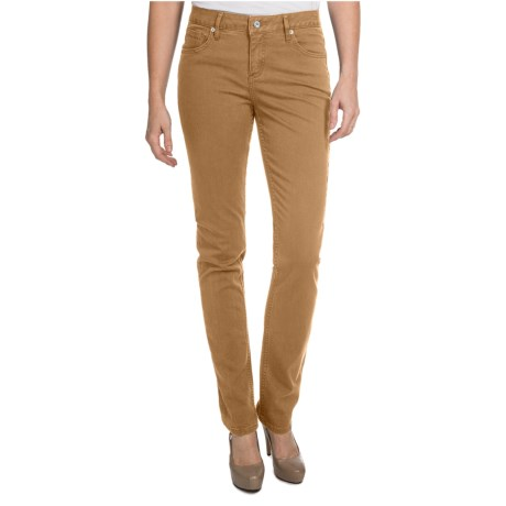 Christopher Blue Sophia Gab 72 Pants - Stretch Twill, Skinny (For Women) in Saddle Brown