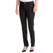 Christopher Blue Sophia Skinny Pants - Jacquard Animal Print (For Women) in Black - Closeouts