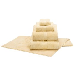 Christy Allure Washcloth - Supima® Cotton in Pale Gold