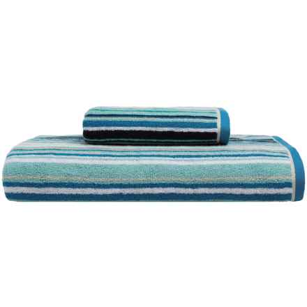 Christy Barcode Collection Hand Towel in Blue - Closeouts