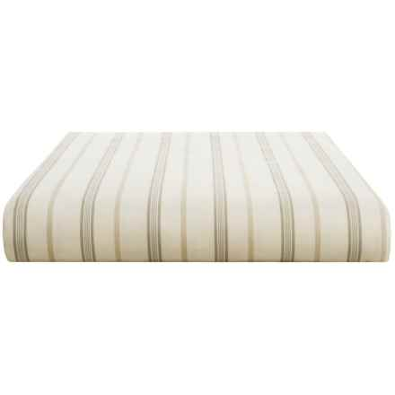 Christy Bloomsbury Cotton Sateen Flat Sheet - Queen, 300 TC in Linen - Closeouts