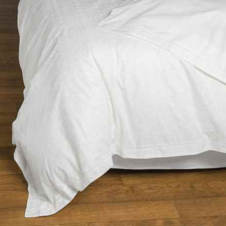 Christy Chantilly Cotton Duvet Cover - 200 TC, King in White - Closeouts