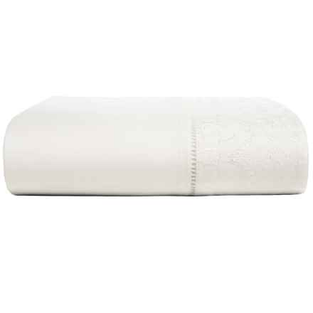 Christy Chantilly Cotton Flat Sheet - 200 TC, King in White - Closeouts