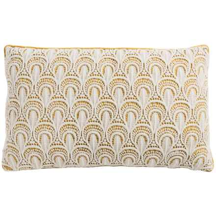 "Christy Clara Throw Pillow - 20"" in Ochre - Closeouts"