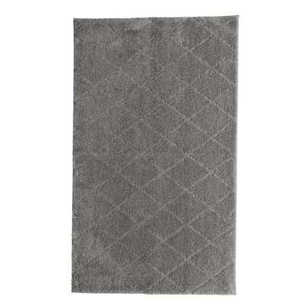 "Christy Drylon® Diamond Bath Rug - 25x45"" in Grey Shadow - Closeouts"
