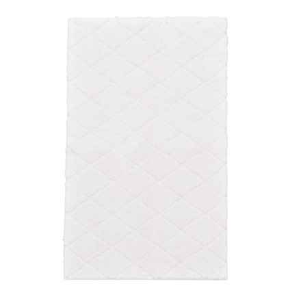 "Christy Drylon® Diamond Bath Rug - 25x45"" in Snow White - Closeouts"